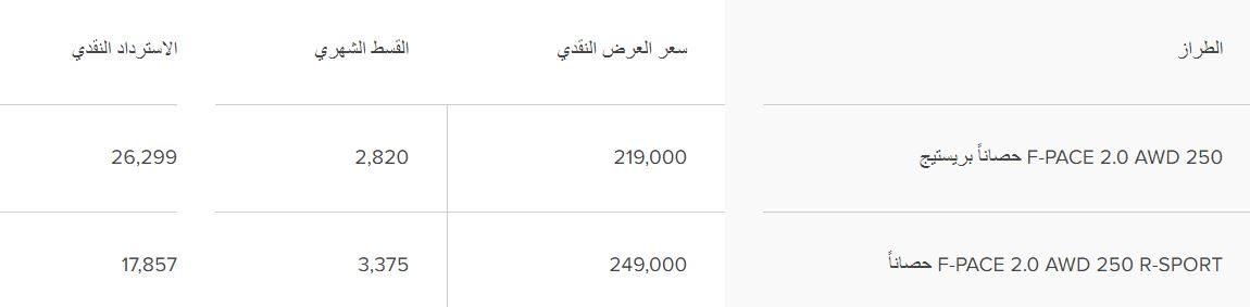 عروض جاكوار السعودية E-PACE 2020